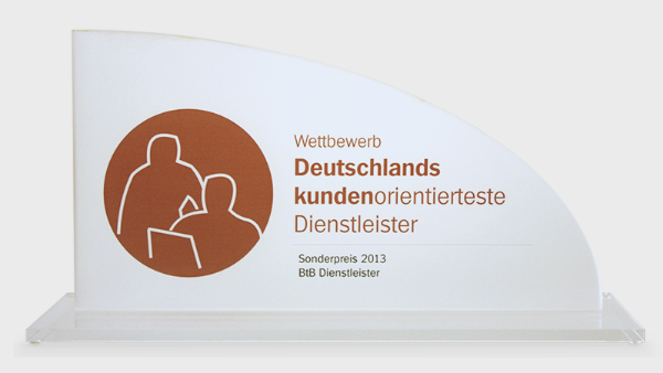 Germany's most customer-oriented service provider 2013