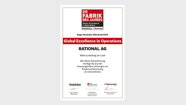 German GEO Award (Global Excellence in Operations)