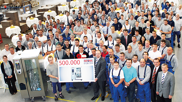 Production of our 500,000th RATIONAL combi-steamer